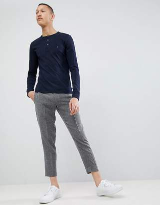 French Connection Henley Long Sleeve Top