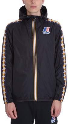 K-Way K Way Kappa X Collaboration Jacket In Black Nylon