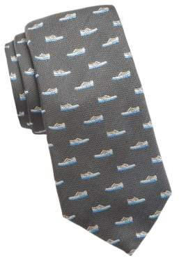 Cole Haan Shoe Embroidered Silk Tie