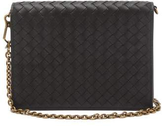 c1999b27e6 Bottega Veneta Intrecciato Leather Clutch - Womens - Black