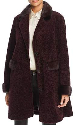 Maximilian Furs Lamb Fur Coat with Mink Fur Trim - 100% Exclusive