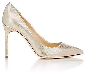Manolo Blahnik Women's Lamé BB Pumps - Gold Satin