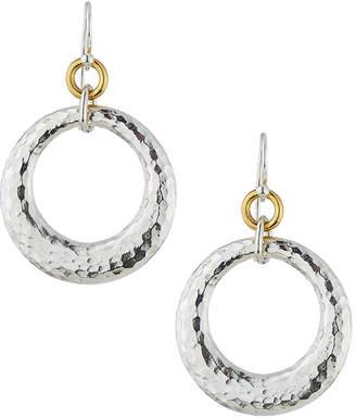 Gurhan Hoopla Large Tapered Ring Drop Earrings