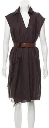 Max Mara Linen Knee-Length Dress