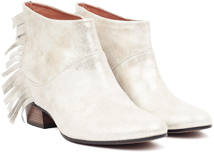 Golden Goose Sun Booties Silver