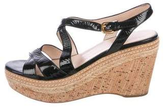 Prada Platform Wedge Sandals