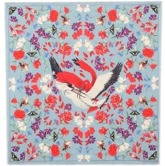 Alexander McQueen Printed wool-blend scarf