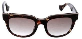 Balenciaga Tortoiseshell Logo Sunglasses