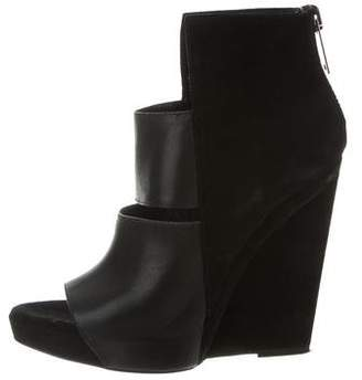 Gareth Pugh Leather Wedge Booties