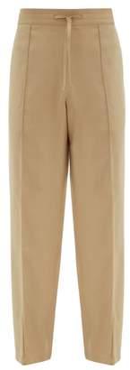 Wide Leg Track Pants - Mens - Beige