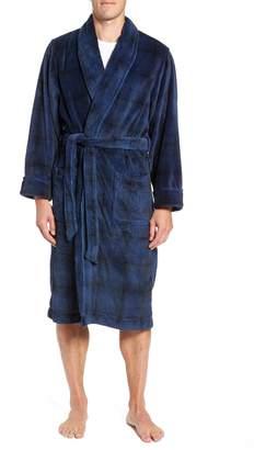 Nordstrom Ombre Plaid Fleece Robe