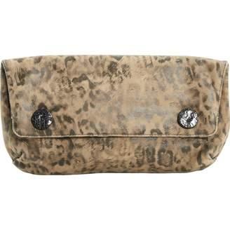 Lanvin Beige Suede Clutch Bag