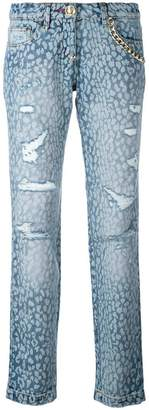 Philipp Plein animal print jeans