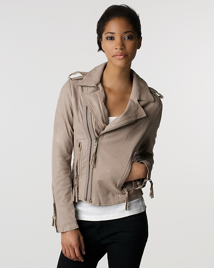 """Joie Ailey"""" Leather Motorcycle Jacket"""