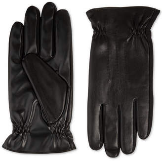 totes Isotoner Men's Faux-Leather Gloves