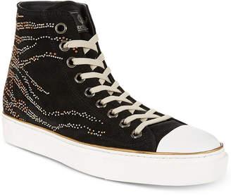 Roberto Cavalli Men's Studded Suede High-Top Sneakers Men's Shoes