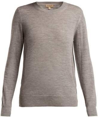 Burberry Bempton Merino Wool Sweater - Womens - Grey