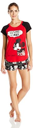 Disney Women's Minnie or Mickey Mouse Boxer Set $14.34 thestylecure.com