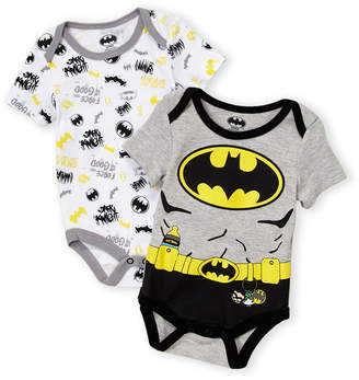 DC Newborn Boys) Two-Piece Batman Bodysuits