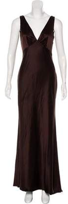 Halston H by Silk Maxi Dress