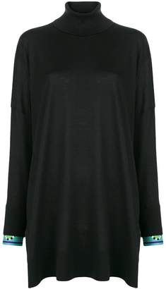 Emilio Pucci contrast-cuff roll neck sweater