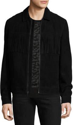 Ovadia & Sons Suede Jacket w/ Fringe