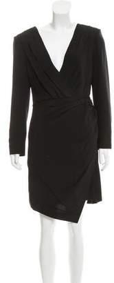 Saint Laurent Structured Surplice Dress