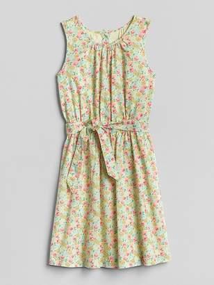 Gap Tie-Belt Floral Dress