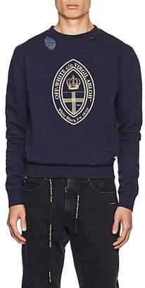 Off-White Men's Logo Crest Cotton Fleece Sweatshirt