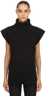 Alexander McQueen Wool & Cashmere Blend Sleeveless Sweater