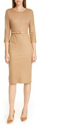 Max Mara Rovigo Belted Wool Jersey Dress