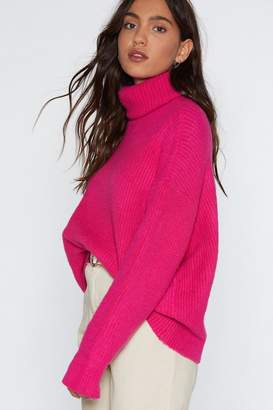 Nasty Gal Don't Mention Knit Turtleneck Sweater