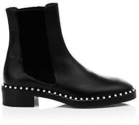 Stuart Weitzman Women's Cline Faux Pearl Leather Chelsea Boots