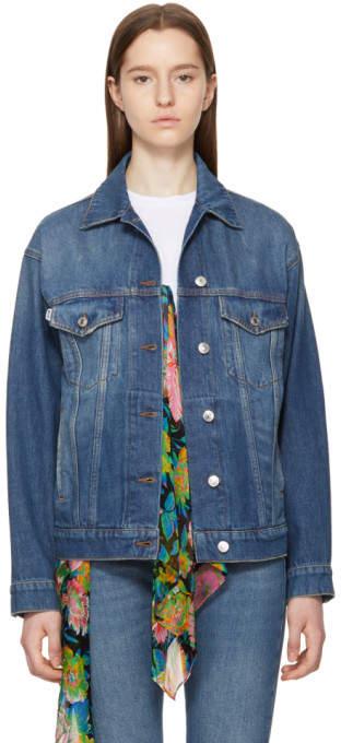 Blue Stamped Denim Jacket