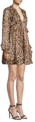 The Kooples Leopard-Print Mini Dress