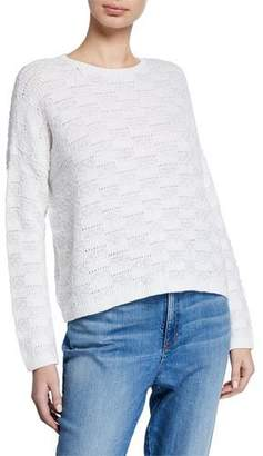 Eileen Fisher Textured Organic Cotton & Linen Sweater