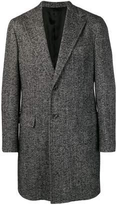 Barba single breasted midi coat