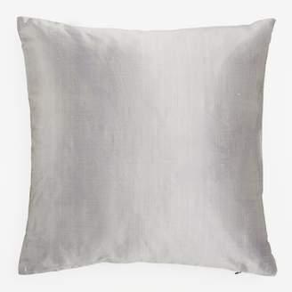 Varanasi Silk Dupioni Pillow Gray