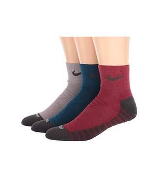 Nike Dry Cushion Quarter Training Socks 3-Pair Pack