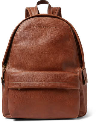 Brunello Cucinelli Full-Grain Leather Backpack