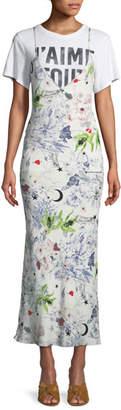 Cinq à Sept Emmalyn V-Neck Multi-Print Silk Dress