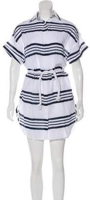 Faithfull The Brand Avalon Strip Shirt Dress w/ Tags