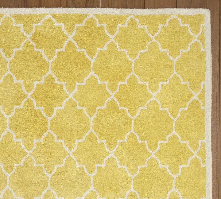 Moorish Tile Rug - Pineapple Yellow