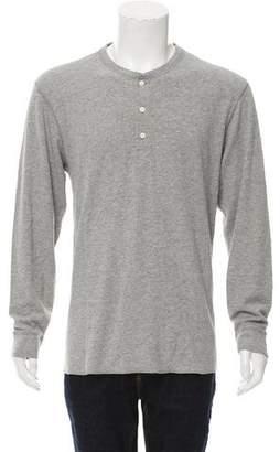 Billy Reid Long Sleeve Henley T-Shirt