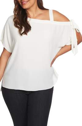 1 STATE 1.STATE One-Shoulder Tie Sleeve Blouse