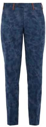 Missoni Tie Dyed Cotton Trousers - Mens - Blue