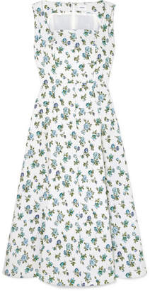 Erdem Polly Floral-jacquard Midi Dress - White