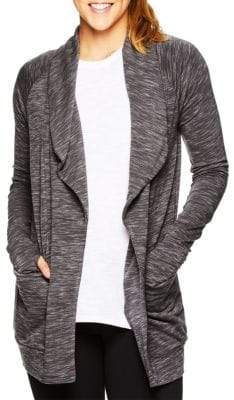 Gaiam Piper Marled Open Front Cardigan