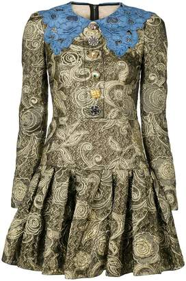 Dolce & Gabbana jacquard pleated dress