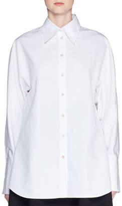 The Row Bill Button-Front Long-Sleeve Cotton Shirt